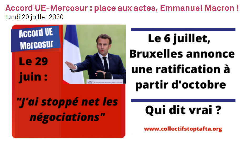 Screenshot 2020 07 21 Accord UE Mercosur place aux actes Emmanuel Macron