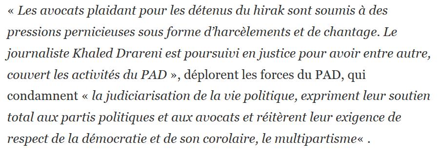 Screenshot 2020 08 11 Les forces du PAD dC3A9noncent les C2AB nouvelles cabales judiciaires C2BB