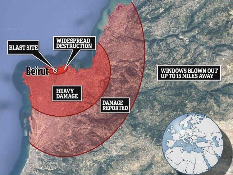 damage explosion lebanon