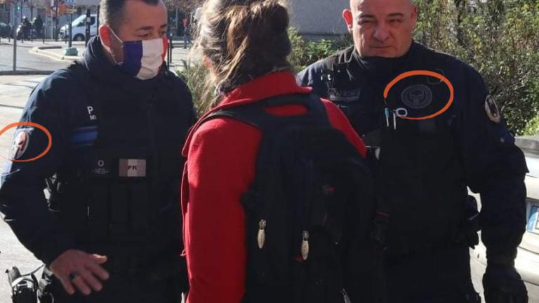 Police Pierrefite écusson extrême droite