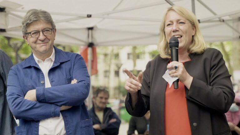 Jean Luc Melenchon et Danielle Simonnet 20eme