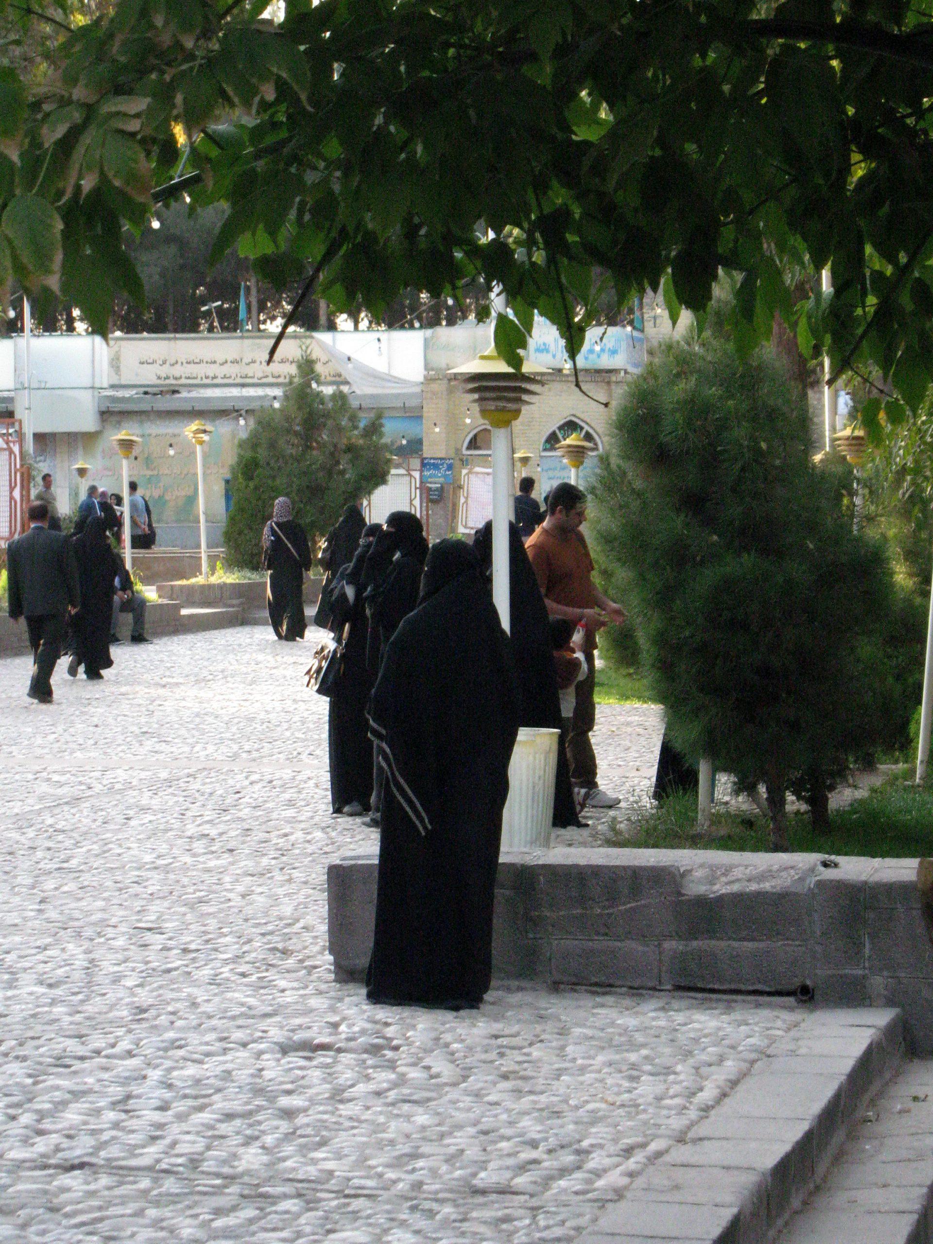 Saudi Arabian woman with Niqab taking photo from Mosque of Mohammad al Mahruq Nishapur 4 scaled 1
